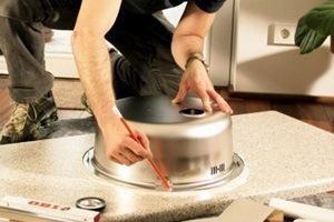 Типы монтажа моек для кухни