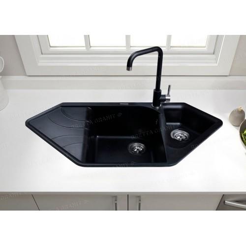 Гранітна мийка Zegna Black