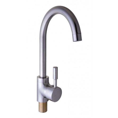 Смеситель кухонный Globus Lux LAZER GLLR-0103 S St Steel НЕРЖАВЕЙКА 18-95
