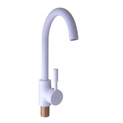 Смеситель кухонный Globus GLLR-0103 S WHITE LAZER Globus Lux 18-95
