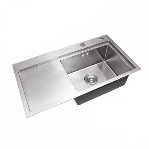 Мойка Platinum Handmade 78*43/220 R (толщина 3,0/1,5 корзина и дозатор в комплекте)