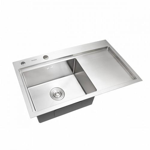 Мойка Platinum Handmade 78*43/220 L (толщина 3,0/1,5 корзина и дозатор в комплекте)