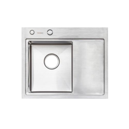 Мойка Platinum Handmade 58*48/220 L (толщина 3,0 / 1,5 корзина и дозатор в комплекте)