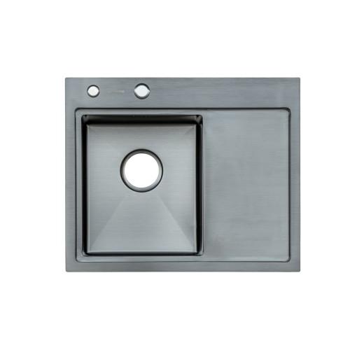 Мойка Platinum Handmade PVD черная 58 * 48/220 L (толщина 3,0 / 1,5 корзина и дозатор в комплекте)