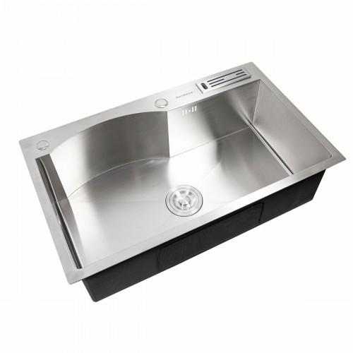 Мойка Platinum Handmade 75 * 46/230 (с подставкой для ножей)