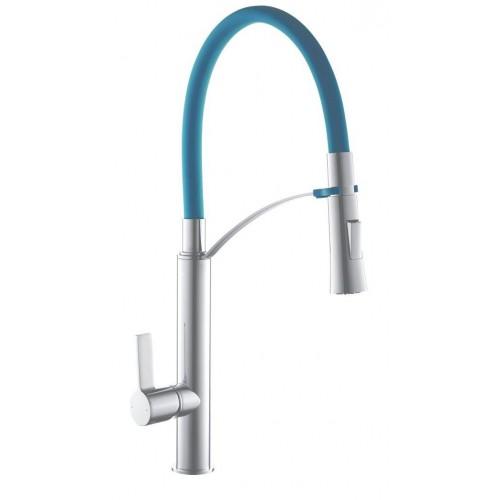 Смеситель кухонный TOPAZ SARDINIA-P-8817-H23-B-S синий 47-37