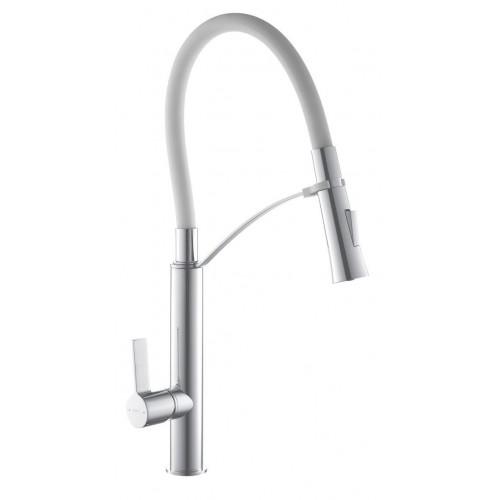 Смеситель кухонный TOPAZ SARDINIA-P-8817-H23-W-S белый 47-37
